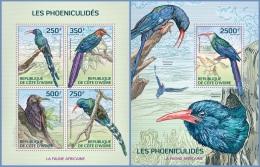 ic14124ab Ivory Coast 2014 Birds 2 s/s