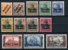 28083) MAROKKO - Lot Gefalzt Aus 1899-1911, 98.- € - Ufficio: Marocco