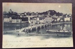 SUISSE - LUZERN  NEL 1898  - PER  VALLECALDA GENOVA IN DATA 27/9/98 - Switzerland