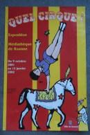 42- ROANNE-  CIRQUE - AFFICHE  DU 2001-2002- LES 7 PECHES CAPITAUX- CHEVAL - ACROBATE- EQUESTRE- DESSIN DE NATALI