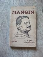 Mangin De Dutrès Et De Cassagnac 1920 Biographie Ww1 - War 1914-18