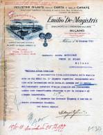 MILANO-DITTA EMILIO DE -MAGISTRIS-LAVORAZIONE DELLA CARTA-28-10-1919 - Paesi Bassi