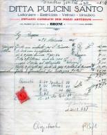 BRONI-PAVIA-DITTA PULICINI  SANTO-IMPIANTI COMPLETI  PER POZZI ARTESIANI-28-11-1928 - Paesi Bassi