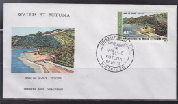 = Wallis Et Futuna Paysages Anse De Sigave Futuna Enveloppe 1er Jour Mata Utu 1.12.75 N°PA 69 - FDC
