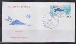 = Wallis Et Futuna Concorde Enveloppe 1er Jour Mata Utu 21.1.76 N°PA 71 Paris Dakar New-York Dakar Paris - FDC