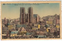Brussel, Bruxelles, Vue Sur L'Eglise Ste Gudule (pk19358) - Panoramische Zichten, Meerdere Zichten
