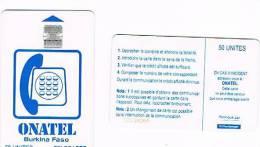 BURKINA FASO  -  ONATEL (CHIP)  - 1993 WHITE 50     - USED  - RIF. 372 - Burkina Faso