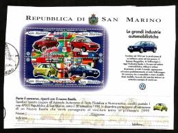 1997  SAN MARINO  Auto Car  Fg Usato - San Marino