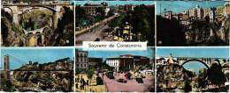 SOUVENIR DE CONSTANTINE 21,8 X 8.7 CMS LARGE CARD ALGERIE (2 SCANS) - Konstantinopel