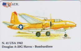 AIRPLANE - ITALY - N. 41 - DOUGLAS - BOMBARDIERE - MILITARY - ARMY - Airplanes