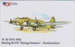 AIRPLANE - ITALY - N. 42 - BOEING - BOMBARDIERE - MILITARY - ARMY - Airplanes