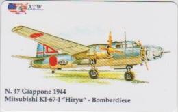 AIRPLANE - ITALY - N. 47 - MITSUBISHI - BOMBARDIERE - MILITARY - ARMY - Avions