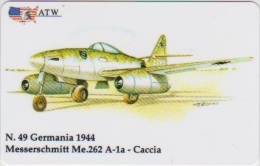 AIRPLANE - ITALY - N. 49 - MESSERSCHMITT - CACCIA - MILITARY - ARMY - Airplanes