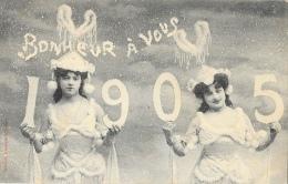 1905 - Bonheur à Vous - Phototypie A. Bergeret - Nouvel An