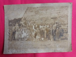 Photo A Identifier De Groupes (famille) A Vallieres Jura 16x14cm- - Personnes Anonymes