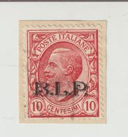 B.L.P.-10c.-2° Tipo Mm.13,80-usato-Catalogo Unificato E.100,00 - 1900-44 Vittorio Emanuele III