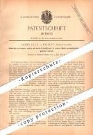 Original Patent - James Lyle In Paisley , Scotland , 1886 , Lamps With Atomized Fuel !!! - Renfrewshire