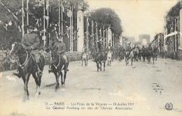 Les Fêtes De La Victoire à Paris - 14 Juillet 1919 - Troupes Américaines (Général Pershing) - Lot De 5 Cartes Non Circul - Militaria