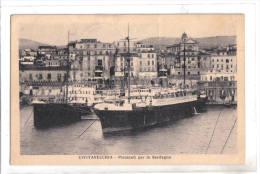 Civitavecchia, Piroscafi Per La Sardegna, Annulli Ambulanti ROMA-PISA - F.p. - Anni ´1910/1920 - Civitavecchia