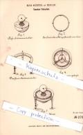 Original Patent - Max Küster In Berlin , 1883 , Taschen-Tintenfaß !!! - Tintenfässer
