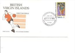 Basket-Ball ( FDC Des Iles Vierges De 1992 à Voir) - Basketball
