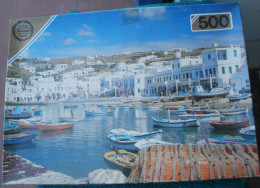 PUZZLE FALCON De 500 Pièces GREEK HARBOUR (port Grec) - Puzzles