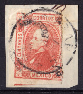 MEXICO 1872 Yvert # 51 - Error Shifted Perforation - Messico