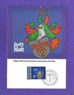 Liechtenstein  1981 , Landammänner-Wappen II - Peter Matt - Maximum Karte - Ausgabe Vaduz 9. März 1981 - Coat Of Arms