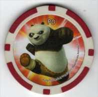 Jeton De Casino : Série CORA 1/24 : PO Force 64 Amitié 78 Panda - Casino