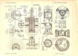 Segnali Marittimi- Naval Signals-SOUTER Point Lighthouse-Roten Sande On Weser-Plainer Island- The Lizard--LITHO 1897- - Litografia