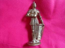 Chevalier En Armure- (laiton Ou Bronze )230g Reg.design 879213 Hauteur 12cm Environ - Unclassified