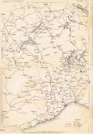 Carta-Mappa Progetti Miglioria Ferrovia Ferrovie Alta Italia-FF.SS.-LITHO 1897- - Litografia