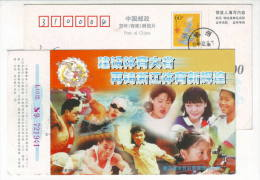 Weightlifting Swimming Table Tennis Shot Put Shooting,CN 00 Zhejiang Sport Lottery Center Advertising Pre-stamped Card - Tiro (armas)