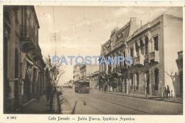 10228 ARGENTINA BAHIA BLANCA BS AS STREET CALLE DONADO & TRAMWAY TRANVIA  POSTAL POSTCARD - Argentina
