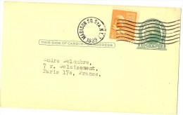 LPU9/B - ETATS UNIS EP CP REPIQUAGE BERLINER POST-GRAM VOYAGEE NEW YORK / PARIS 1939 - Entiers Postaux