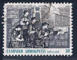 Greece, Scott # 1442 Used National Resistance Movement, 1982 - Greece