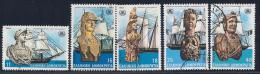 Greece, Scott # 1446-50 Used Ship Figureheads, 1983 - Greece