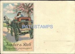 10313 ARGENTINA PUBLICITY COMMERCIAL JUNKER & RUH MAQUINAS DE COSER NO POSTAL POSTCARD - Vieux Papiers