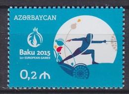 2015 AZERBAÏDJAN Azerbaijan Baku Europa ** MNH Escrime Fencing Fechten Esgrima [CO93] - Escrime