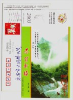 Xiufeng Waterfall,Libai Poetry In The Tang Dynasty,China 2003 Jiujiang Landscape Advertising Pre-stamped Card - Holidays & Tourism