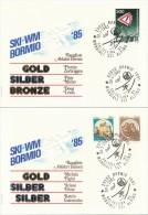 BORMIO - 1985 , Ski-WM , Abfahrt Damen + Herren - Rangliste - Winter (Other)