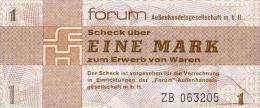Deutschland, Germany, FORUMSCHECK Der DDR,  1 Mark, ( Serie ZB ) ( Ersatznote, Replacement ) 1979,  UNC ! - [14] Forum-Aussenhandelsgesellschaft MBH