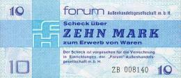 Deutschland, Germany, FORUMSCHECK Der DDR,  10 Mark, ( Serie ZB ) ( Ersatznote, Replacement ) 1979,  UNC ! - [14] Forum-Aussenhandelsgesellschaft MBH