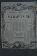 75- PARIS - BEAU CALENDRIER 1912 DES GRANDS MAGASINS DE LA SAMARITAINE- 75 RUE DE RIVOLI- RUES PONT NEUF ET MONNAIE - Calendars