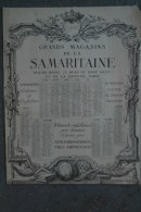 75- PARIS - BEAU CALENDRIER 1912 DES GRANDS MAGASINS DE LA SAMARITAINE- 75 RUE DE RIVOLI- RUES PONT NEUF ET MONNAIE - Calendriers