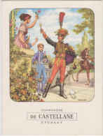 CHAMPAGNE De CASTELLANE   - EPERNAY - Menükarten