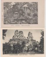 INDOCHINE  CAMBODGE  2   CPA  RUINES D´ANGKOR  Réf  2389 - Cambodia