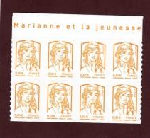 """847 - 4763  De  2013  - Neuf ** - Bloc De 8 Timbres Autoadhésif . """"Marianne Et La Jeunesse"""" .  0.01. Jaune - Autoadesivi"""
