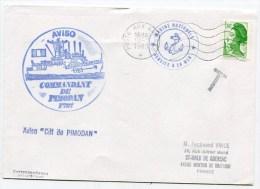 EMA POSTE AUX ARMEES + Cachet Aviso Commandant De PIMODAN Sur Env. Du 13/02/1983 - Postmark Collection (Covers)