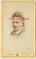 CDV Vers 1870-identifiée Catherine ANSELME Née 1812 à Marseille ép. Louis ICARD -photo Brion - Foto